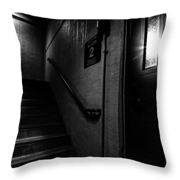 Floor Two After Dark Throw Pillow by Bob Orsillo
