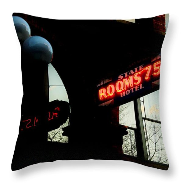 Flophouse Throw Pillow by Benjamin Yeager