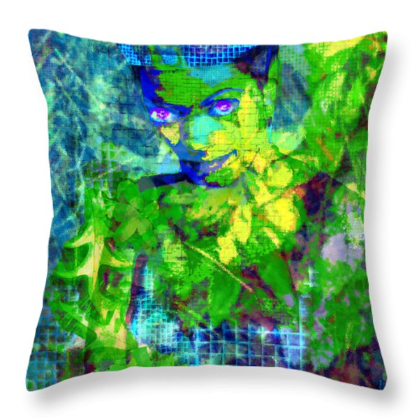 Flora Throw Pillow by Seth Weaver