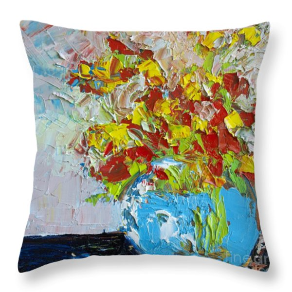 FLORAL ABSTRACT Throw Pillow by Patricia Awapara