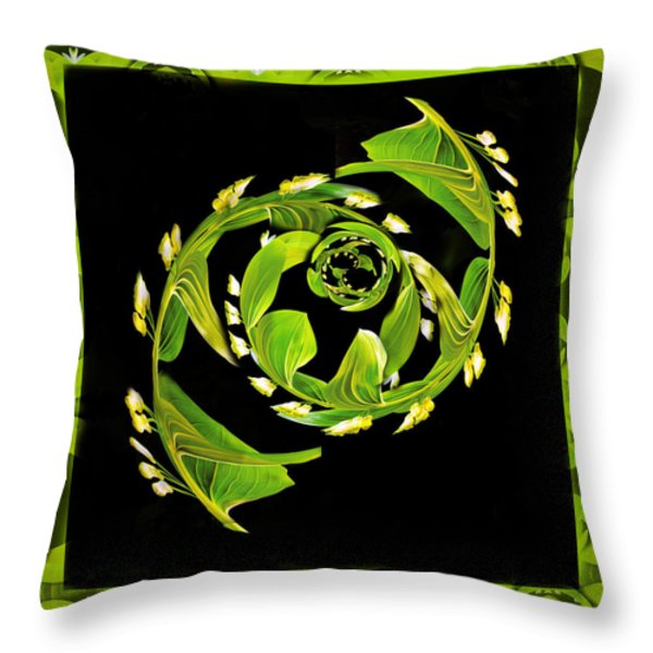 Floral Fantasia Throw Pillow by Jean Noren