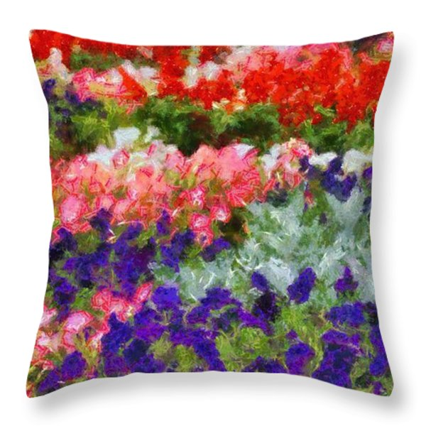 Floral Fantasy Throw Pillow by Dan Sproul