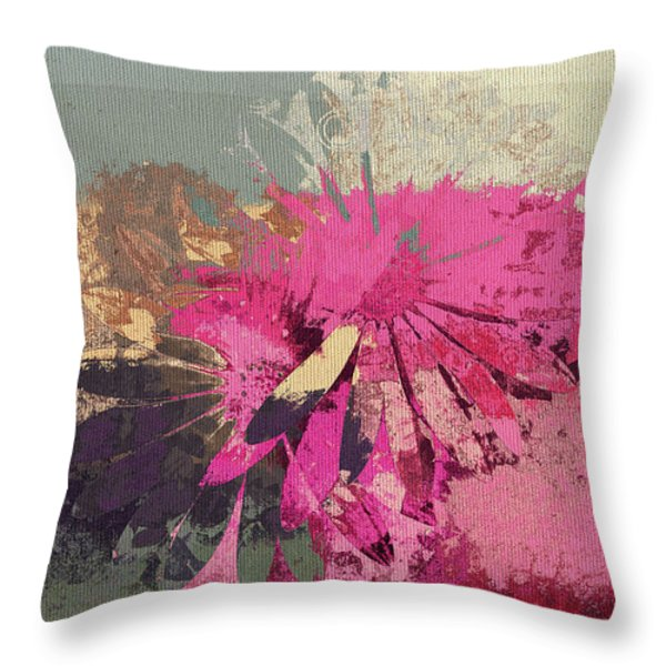 Floral Fiesta - s33bt01 Throw Pillow by Variance Collections