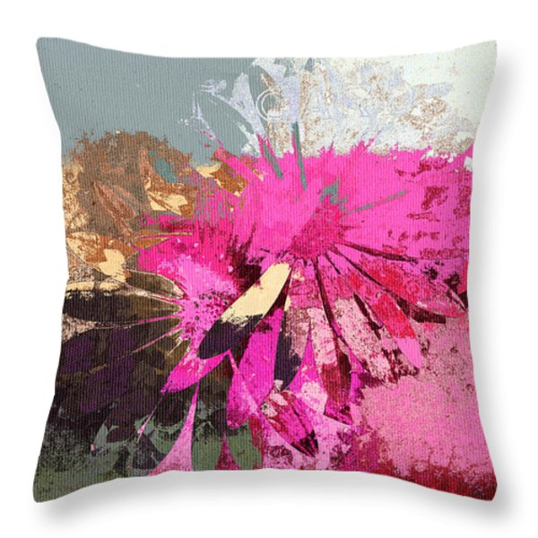 Floral Fiesta - s33ct01 Throw Pillow by Variance Collections
