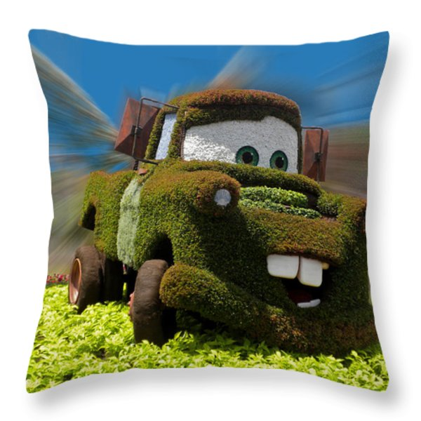 Floral Mater Throw Pillow by Thomas Woolworth
