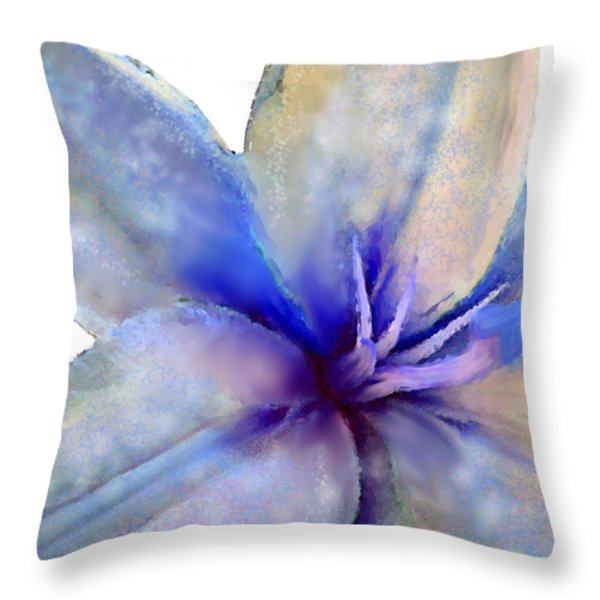 Floral series - Lily Throw Pillow by Moon Stumpp