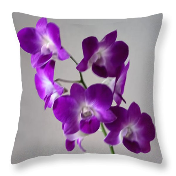 floral Throw Pillow by Tom Prendergast