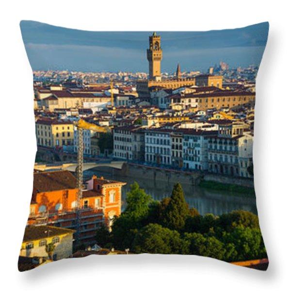 Florence Panorama Throw Pillow by Inge Johnsson
