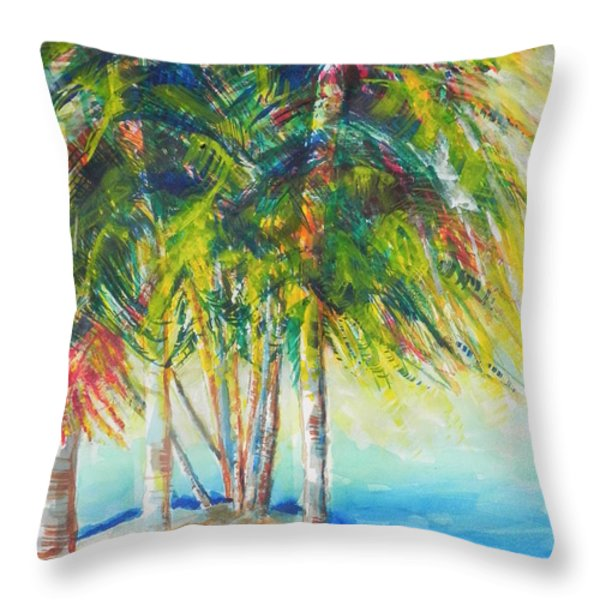 Florida Inspiration  Throw Pillow by Chrisann Ellis