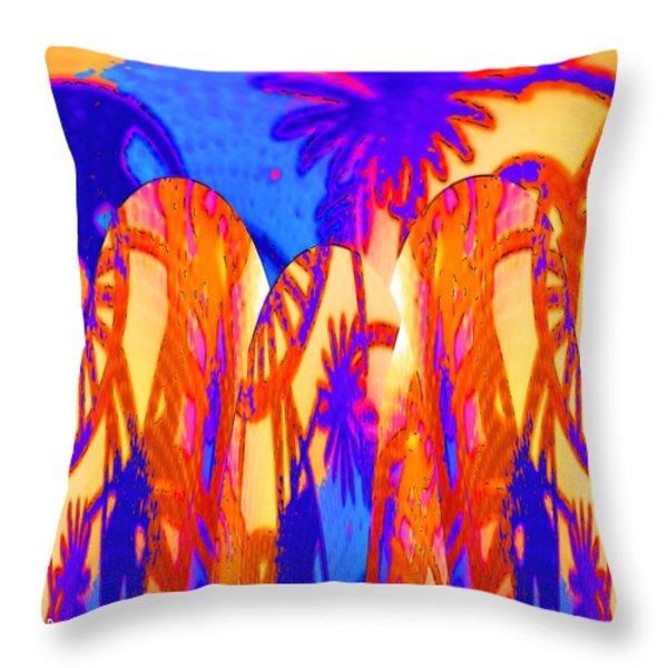 Florida Splash Abstract Throw Pillow by Alec Drake