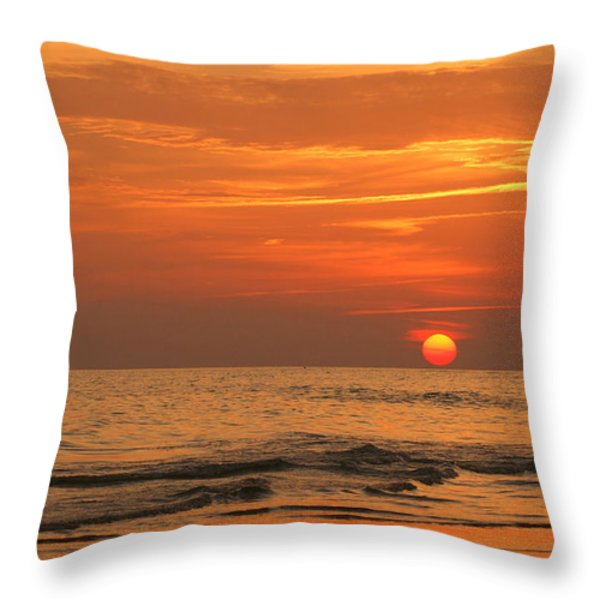 Florida Sunset Throw Pillow by Sandy Keeton