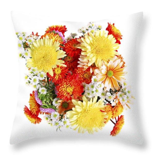 Flower bouquet Throw Pillow by Elena Elisseeva