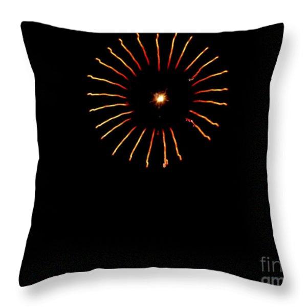 Flower Fireworks Throw Pillow by Robert Bales