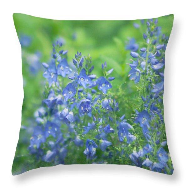 Flower Frenzy Throw Pillow by Kim Hojnacki