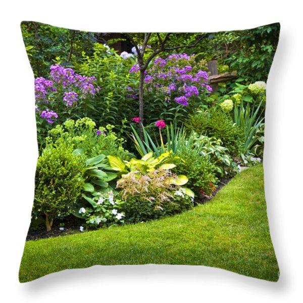 Flower garden Throw Pillow by Elena Elisseeva
