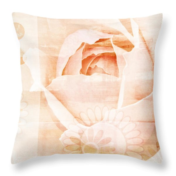 Flower Garden Throw Pillow by Frank Tschakert