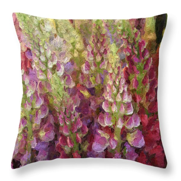 Flower Garden Throw Pillow by Linda Woods