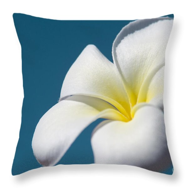 Flower In The Sky Throw Pillow by Sharon Mau