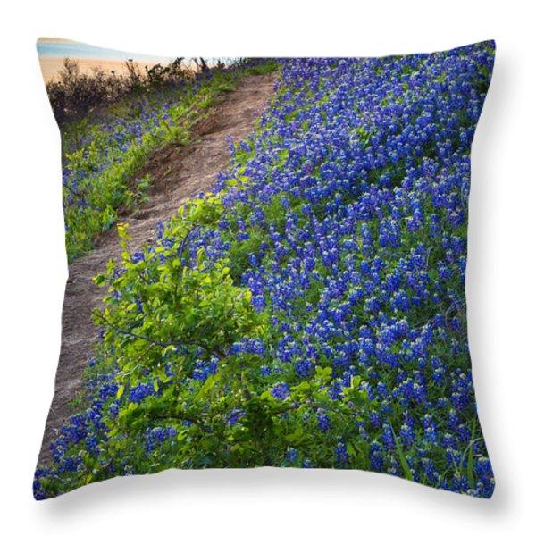 Flower Mound Throw Pillow by Inge Johnsson