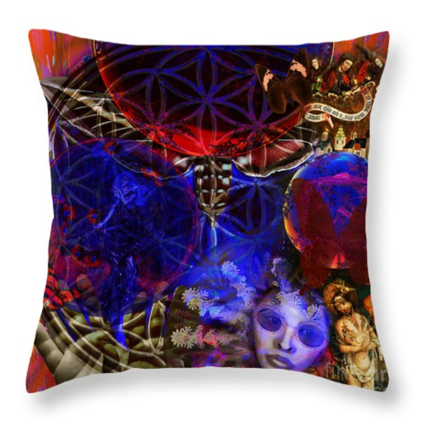 Flower of Creation  Throw Pillow by Joseph Mosley