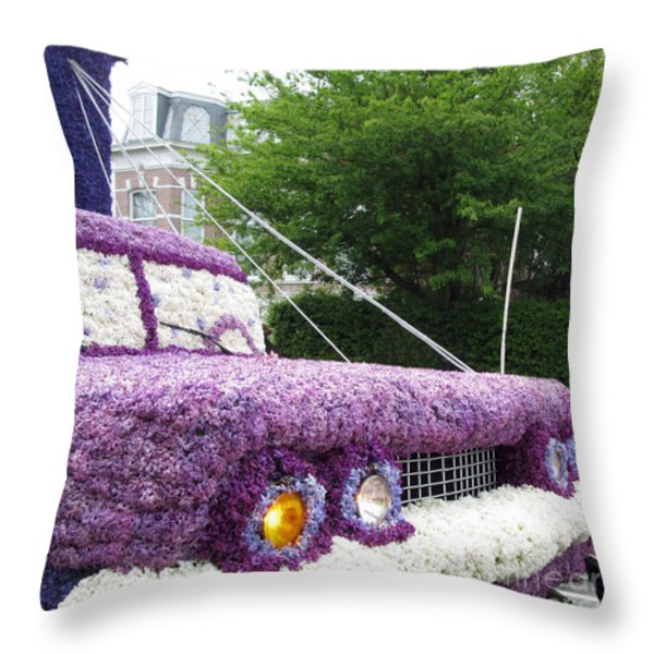 Flower Parade. 03 Blumencorso Holland 2011 Throw Pillow by Ausra Paulauskaite