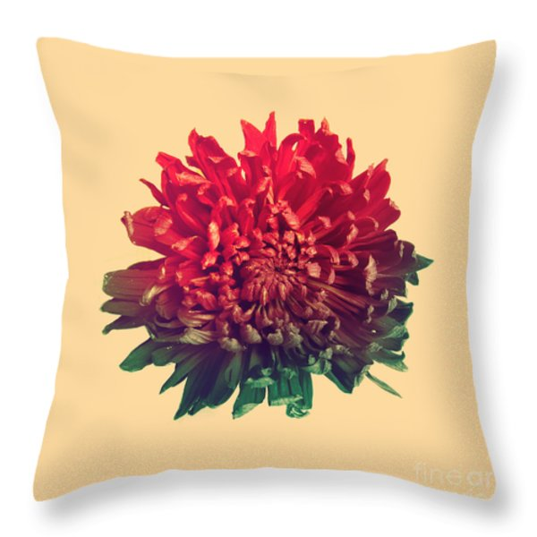 Flower Prints Throw Pillow by Budi Satria Kwan
