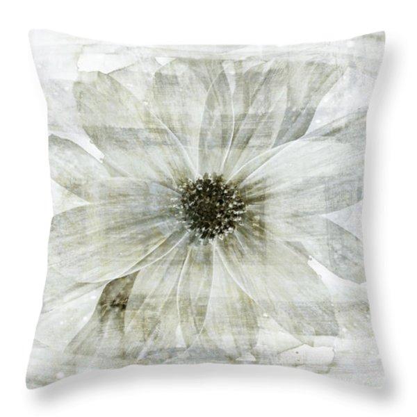 Flower Reflection Throw Pillow by Frank Tschakert