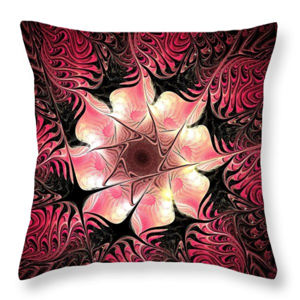 Flower Scent Throw Pillow by Anastasiya Malakhova