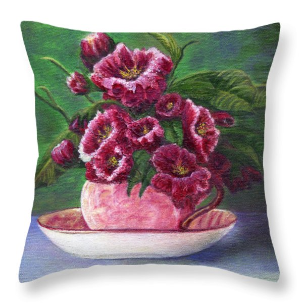 Flower Song  Throw Pillow by Catherine Howard