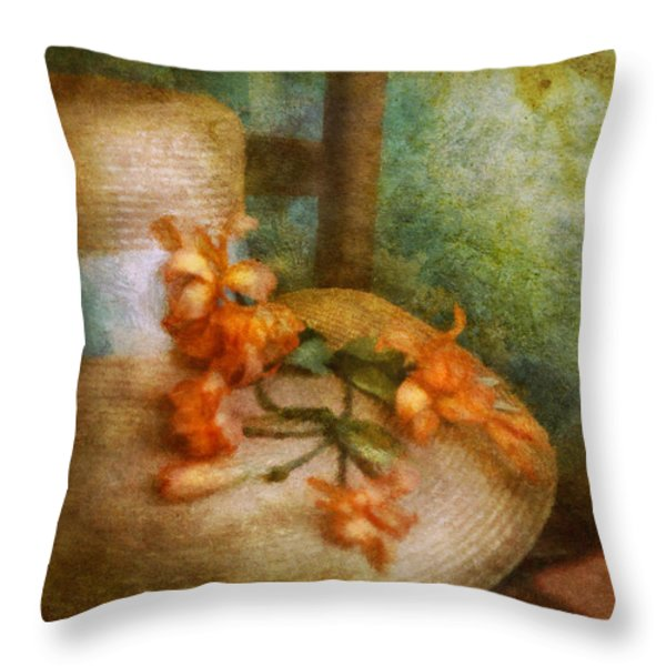 Flower - Still - Spring Fashion Throw Pillow by Mike Savad