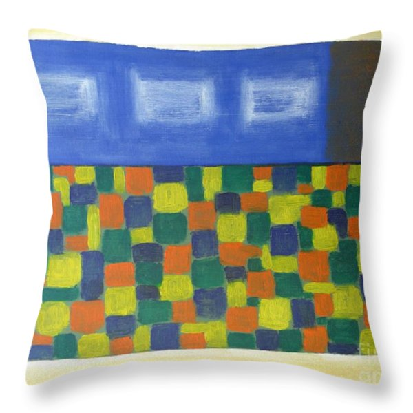 Flowerbed Outside The Window Throw Pillow by Patrick J Murphy