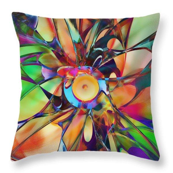 Flowering Throw Pillow by Klara Acel
