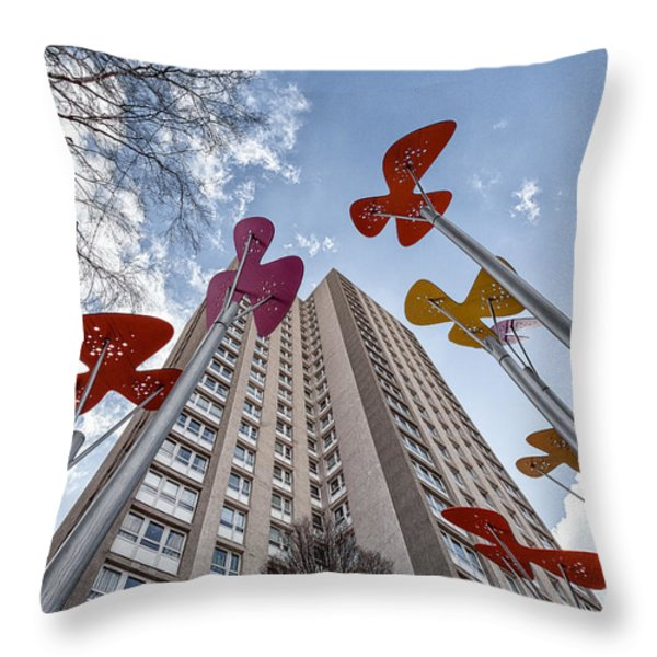Flowers Glasgow Throw Pillow by John Farnan