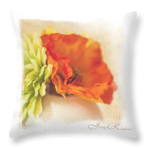 Flowers In Vase. Mini-idea For Interior Throw Pillow by Jenny Rainbow