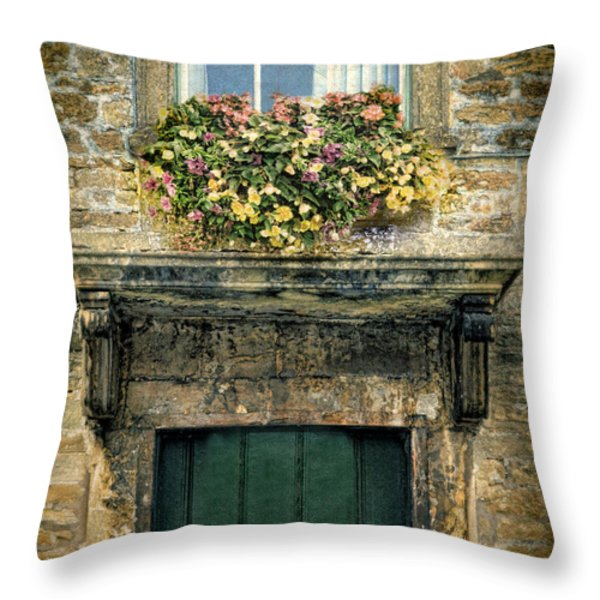 Flowers Over Doorway Throw Pillow by Jill Battaglia