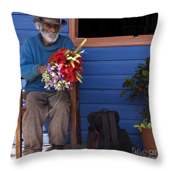 Flowers To Make A Living Throw Pillow by Heiko Koehrer-Wagner