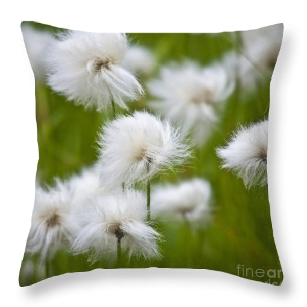 Flowery Cotton Throw Pillow by Heiko Koehrer-Wagner