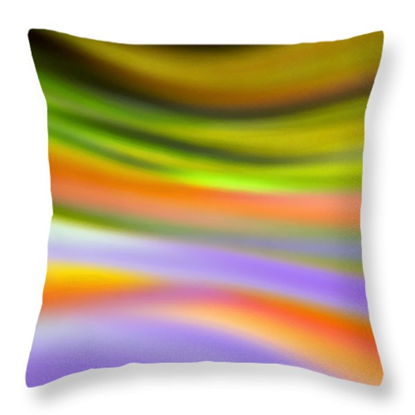 Flowing With Life 20 Throw Pillow by Angelina Vick