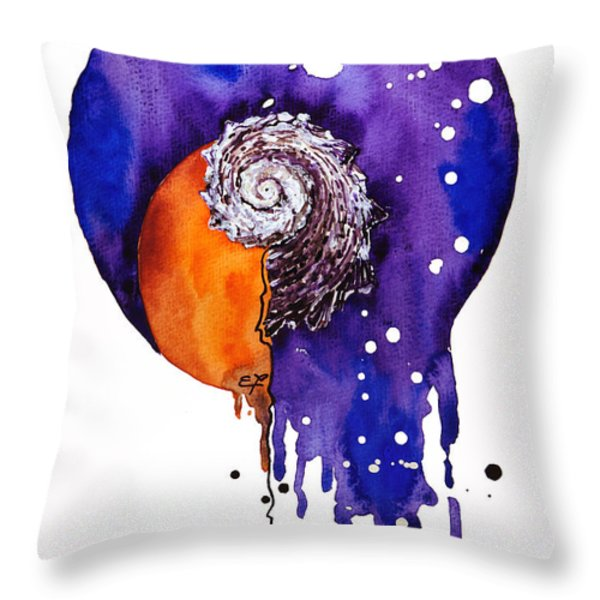 Fluidity 16 - Mollusc Shell - Elena Yakubovich Throw Pillow by Elena Yakubovich