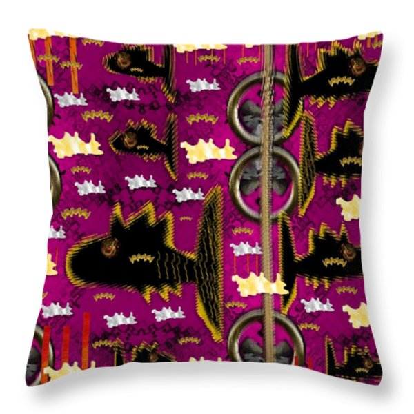 Fly Fish Pop Art Throw Pillow by Pepita Selles
