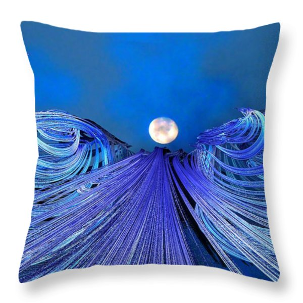 Fly Me To The Moon Throw Pillow by Michael Durst