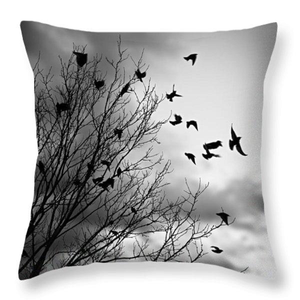 Flying Birds Throw Pillow by Elena Elisseeva