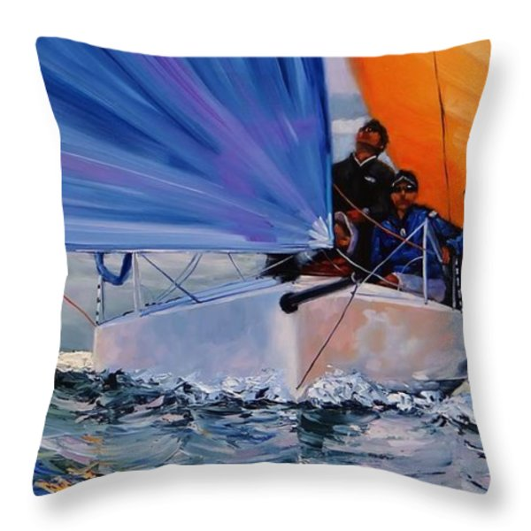 Flying Colors Two Throw Pillow by Laura Lee Zanghetti