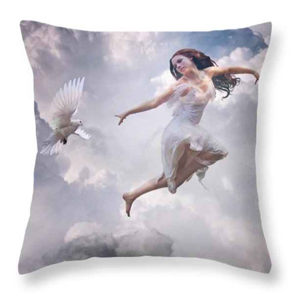 Flying Together Throw Pillow by Gun Legler