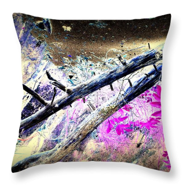 Flying Trees Throw Pillow by Hilde Widerberg