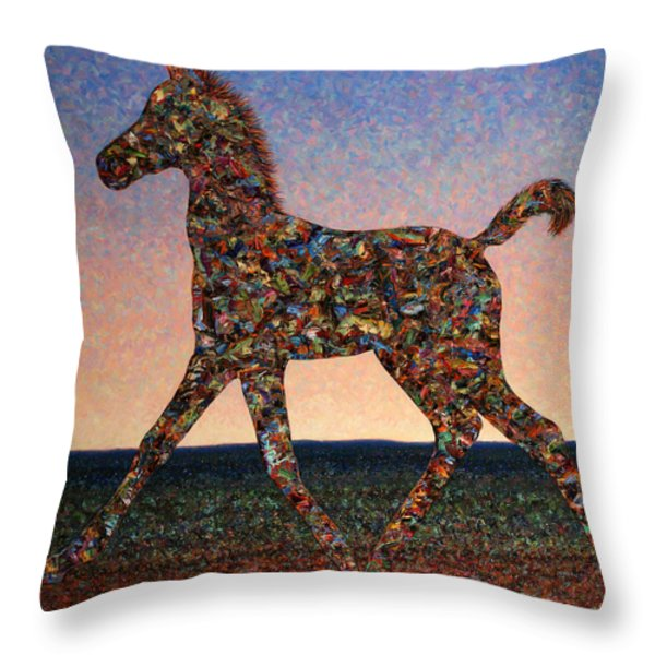 Foal Spirit Throw Pillow by James W Johnson