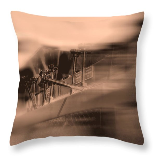 Foam Tank A Fire Engine Number Four Throw Pillow by Bob Orsillo