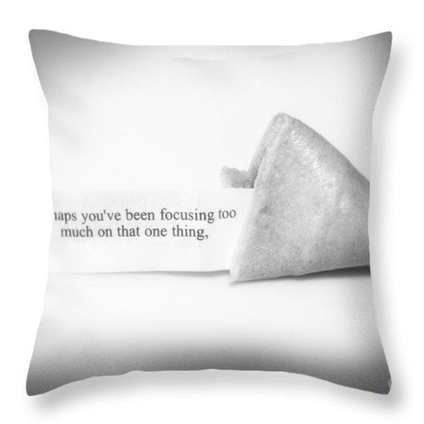 Focusing Throw Pillow by Janice Rae Pariza