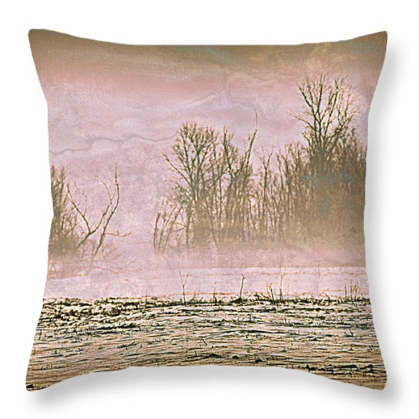 Fog Abstract 2 Throw Pillow by Marty Koch