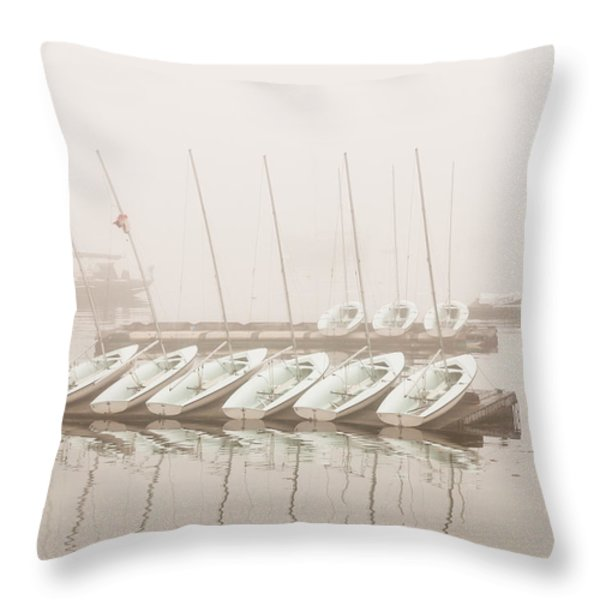 Fogged In Again Throw Pillow by Bob Orsillo